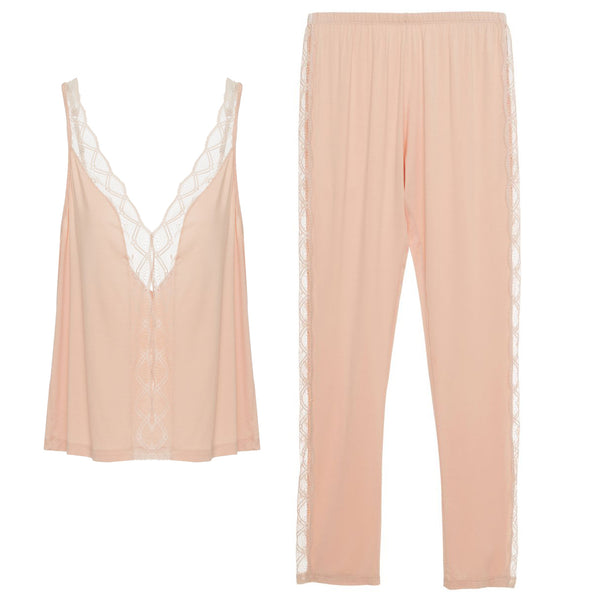 GEORGINA Cami & Slim Pant Set in Spanish Villa