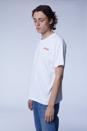 t-shirt logo white / red