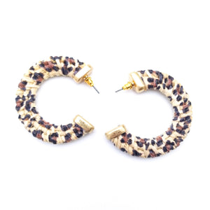 Gold Wrapped Rattan Earrings