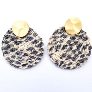 Braided Cord Wrapped Earring
