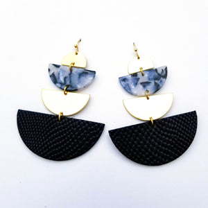 Geometric Shape Drop Earrings