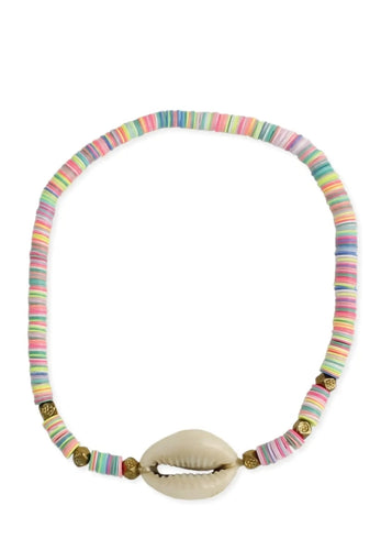 Pastel Perfection Cowry Shell Anklet