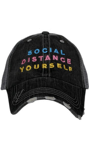 Social Distance Trucker Hat