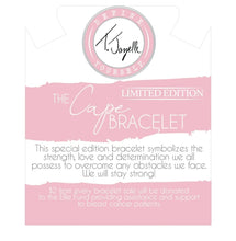 TJazelle Special Edition Cape Bracelet- Breast Cancer Awareness