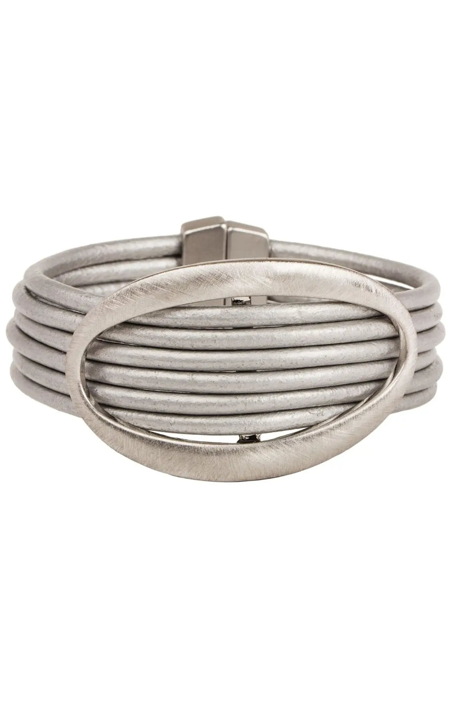 Matte Rhodium Grey Carolina Bracelet
