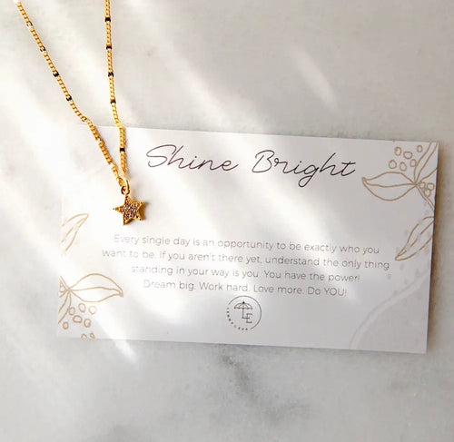 L&E Shine Bright Necklace.
