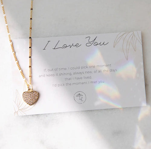 L&E I Love You Necklace