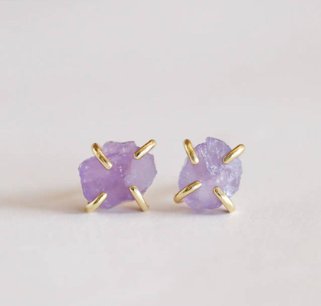 Amethyst Gemstone Prong