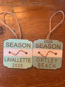 Beach badge ornament
