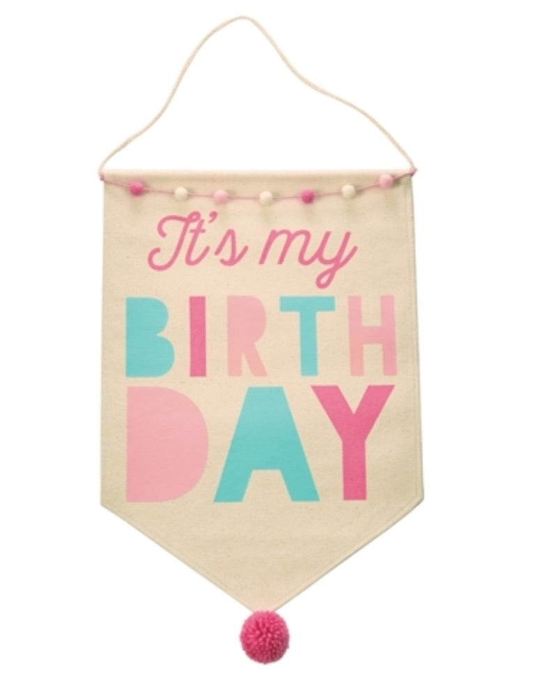 Girl birthday banner