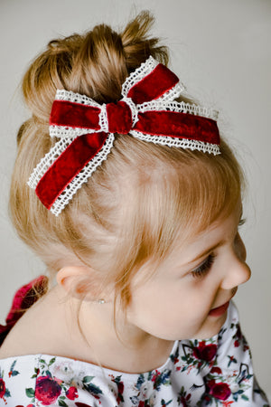 Red Lacey Grace Bow