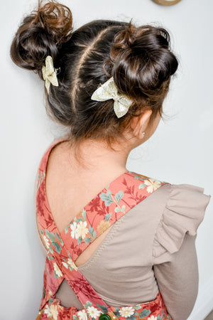 Gold Mini Emmy Pigtail Set