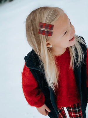 Christmas Plaid - Elle Snap Clip Set