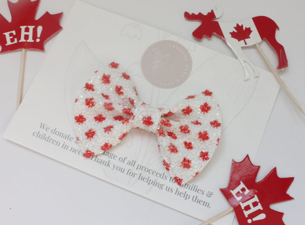 Glitter Maple Leaf - Everleigh Bow