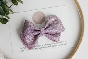 Periwinkle Glitter - Alison Bow