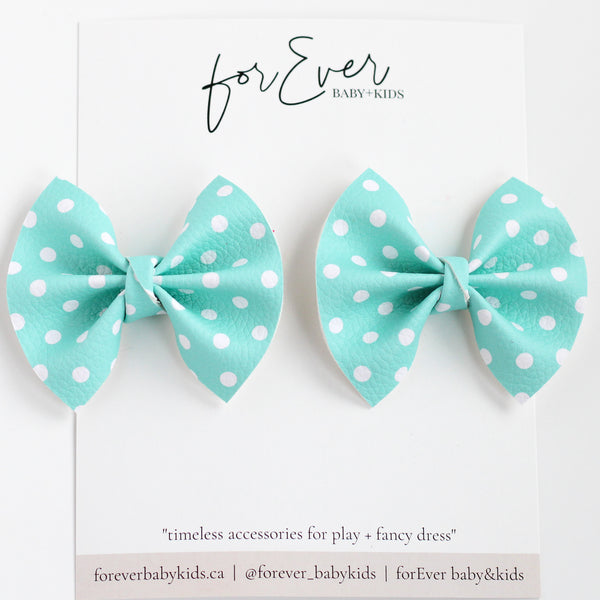 Blue Polka Dots // Pigtail Set