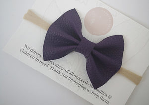 Purple Everleigh Bow