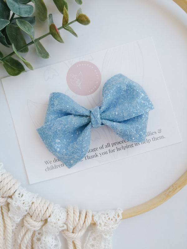 Blue Sugar Glitter Alison Bow