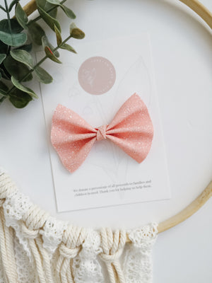 Light Pink Glitter Bow