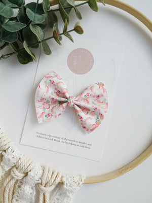 Floral Unicorn Bow