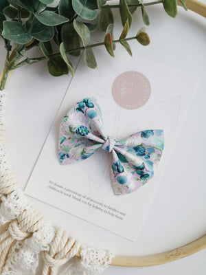 Blue Eucalyptus Bow