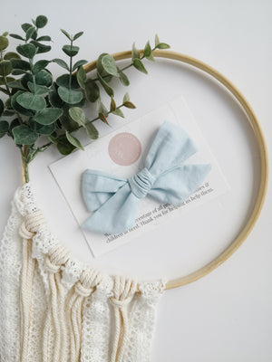 Light Blue Brielle Bow