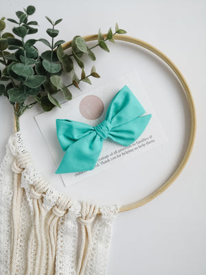 Teal Brielle Bow