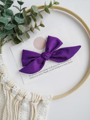 True Purple Brielle Bow