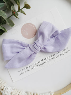 Lavender Brielle Bow