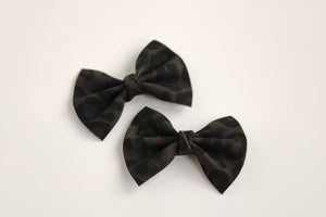 Black Leopard Pigtail Set