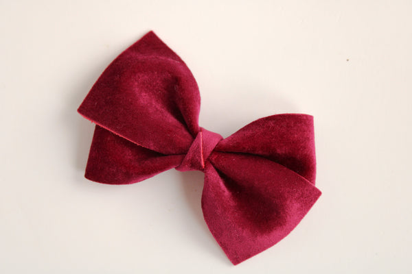 Velour Mulberry Alison Bow