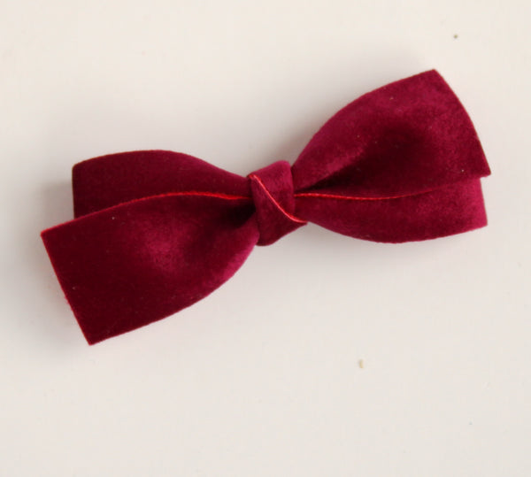 Velour Mulberry Cynthia Bow