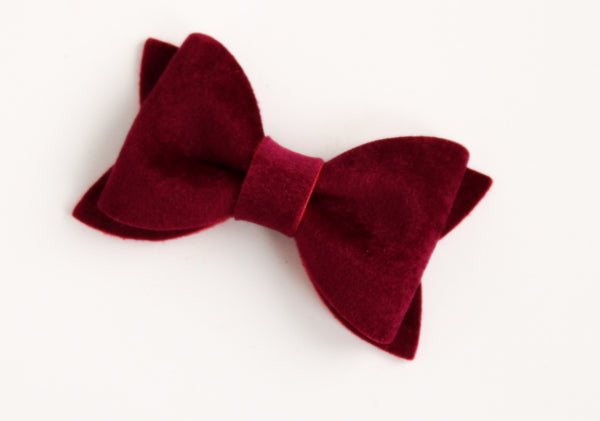 Velour Mulberry Adeline Bow