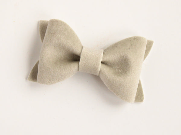 Velour Ice Grey Adeline Bow