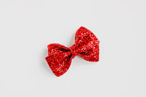 Red Glitter Alison Bow