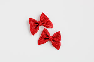 Red Mini Emmy Pigtail Set