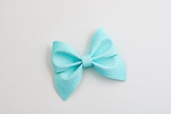 Frozen Blue Glitter Emmy Midi Bow