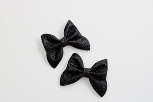 Black Glitter Emmy Mini Pigtail