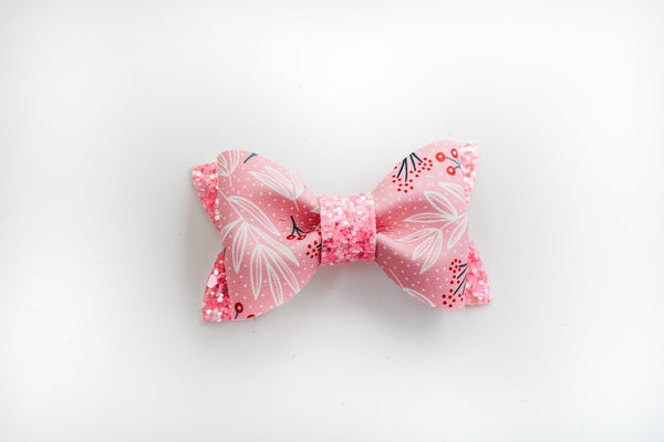 Pink Holly Berry Adeline Bow