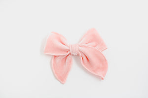 Blush Velvet Catherine Bow