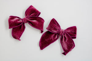 Purple Velvet Catherine Bow
