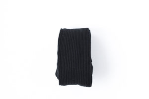 Rib Knit Tights // Black