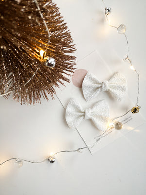 Glitter White - Pigtail Set