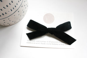 Black - Anne Bow 3/4""