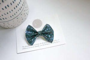 Navy Glitter - Everleigh Bow
