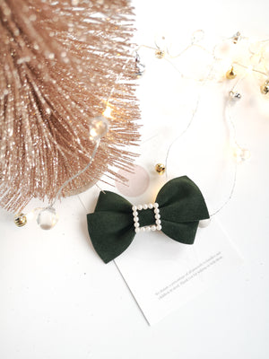 Green Suede Alison Bow