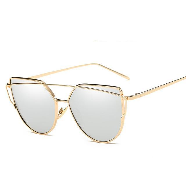 Cat Eye Vintage Mirror Sunglasses