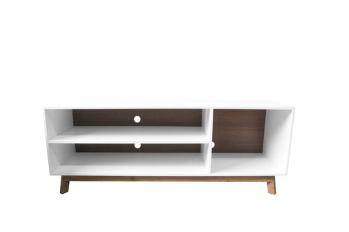 Mueble de TV Aria - Blanco/Nogal