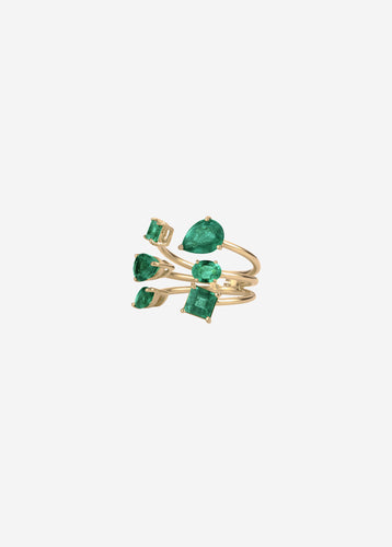 Aegean Ring by House of Meraki  in Zambian emeralds