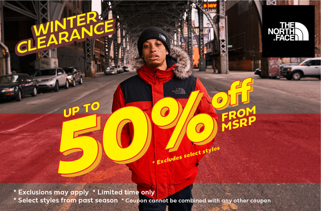 The North face Winter Clearance upto 50% Off
